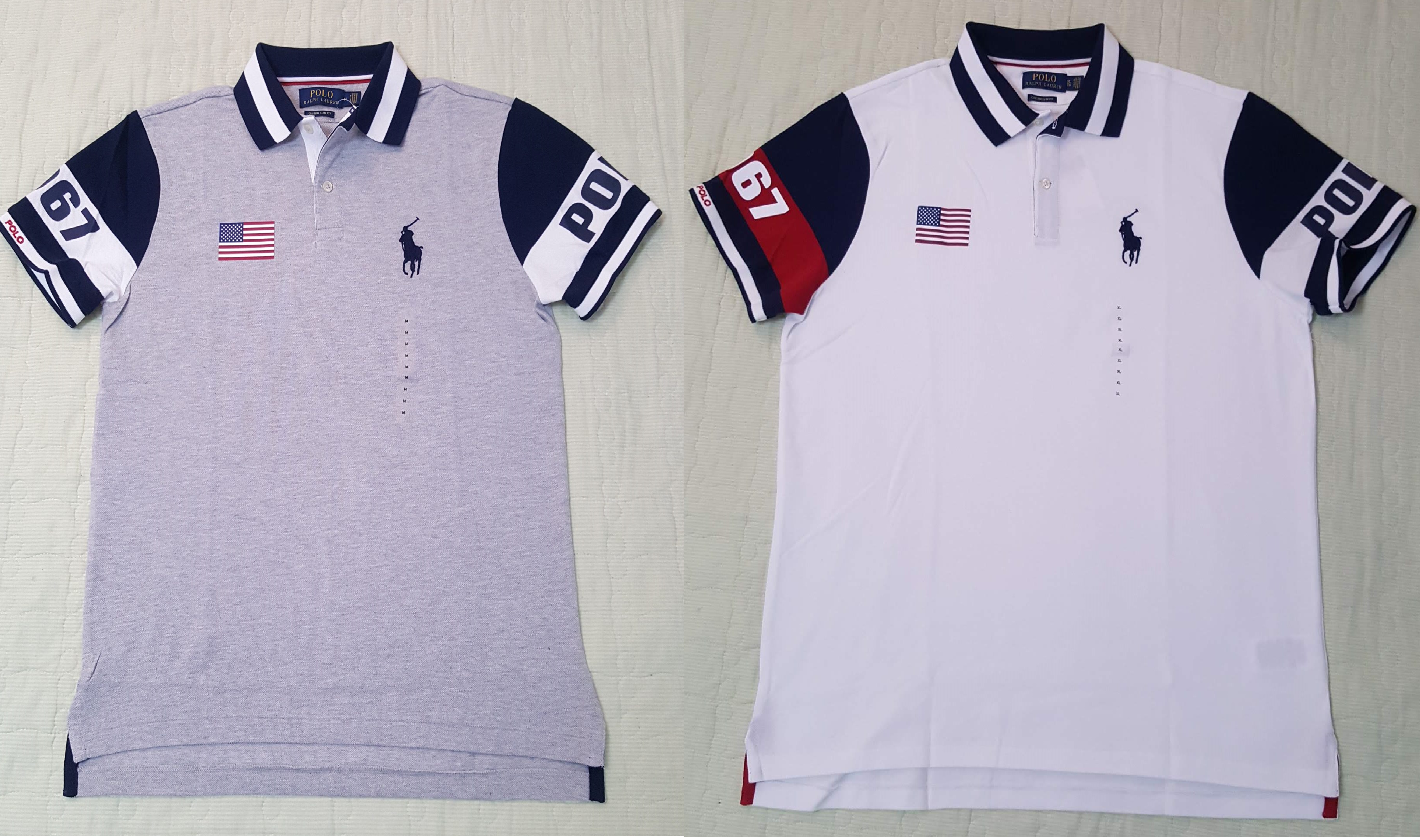 31584ab1c Polo Ralph Lauren Mens White USA Flag Polo 1967 Shirt NWT With Flag Size   M