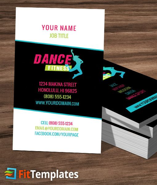 Fittemplates Com Domain For Sale Business Card Template Card Template Cool Business Cards