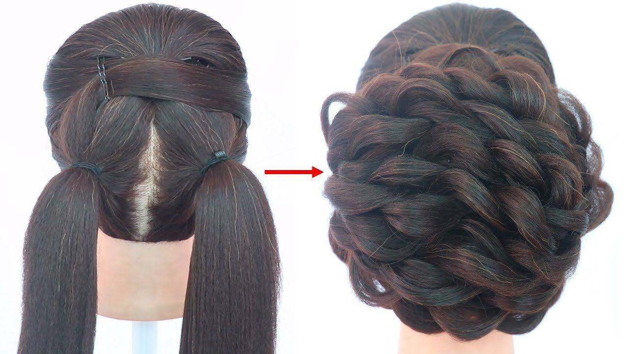 latest updo hairstyle for wedding  messy bun  juda hairstyle