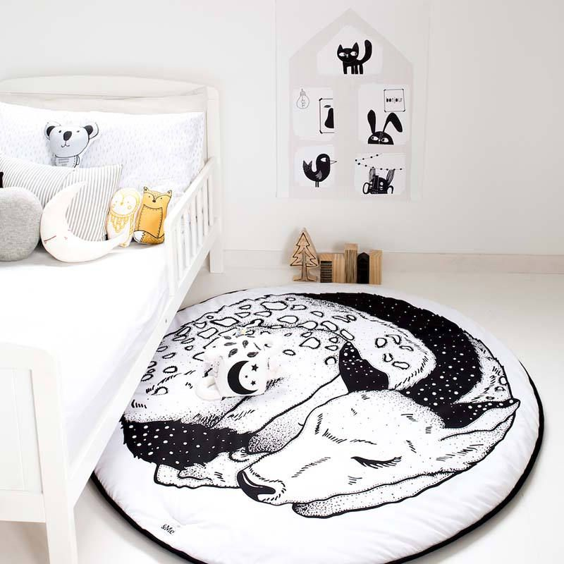 Organic Fawn Play Mat Monochrome Gots Certified Nursery Rug Pre Order Now Baby Playmat Room Decor Children S Large By Eandme On