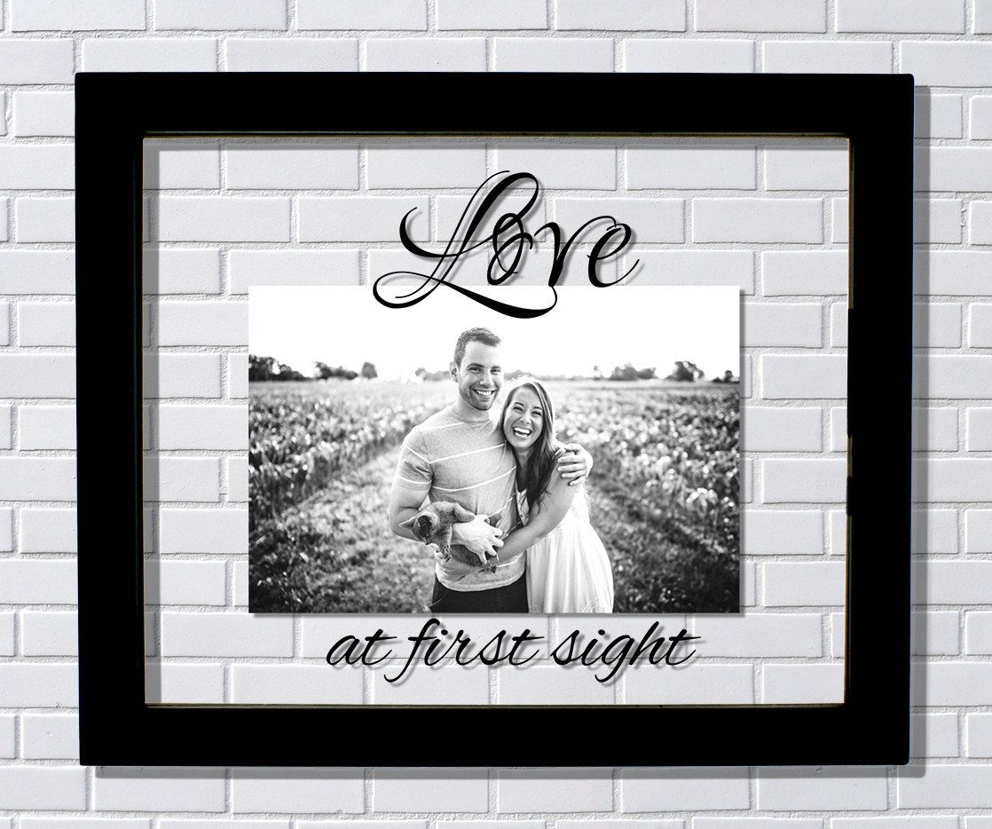 Love at first sight Frame - Floating Frame - Photo Picture Frame ...