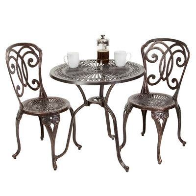 Stella 3 Piece Cast Aluminum Outdoor Bistro Set $234.99 by Wayfair