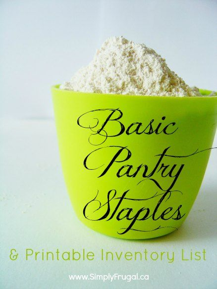 basic pantry staples list and a free printable apartment