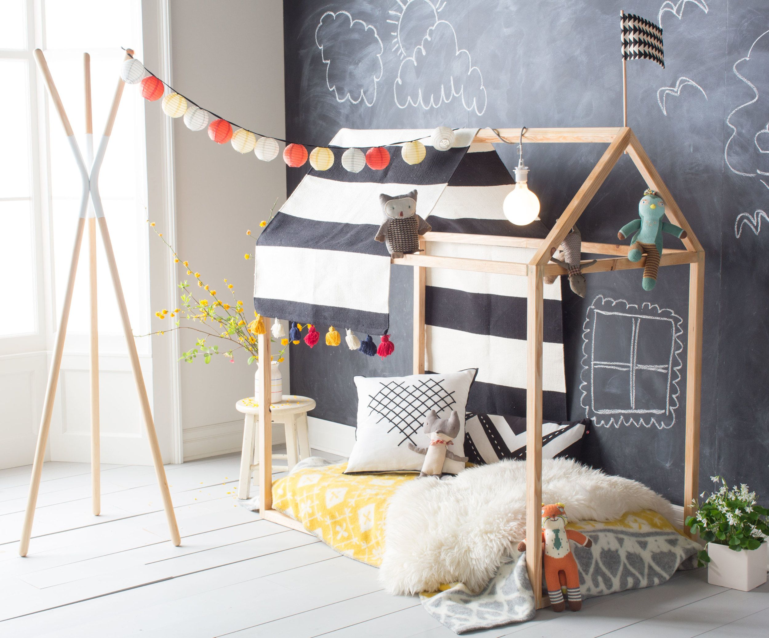 Playhouse Bed Frame DIY Playhouse bed, Playhouses and