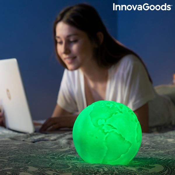 Rechargeable Planet Earth LED Lamp Worldy InnovaGoods