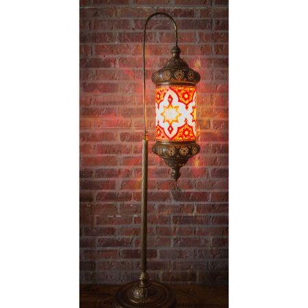 Mosaic Floor Lampsize 60 Hbrass Goose Neck Floor Lamp With