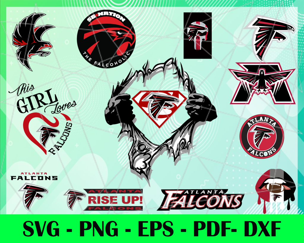 Atlanta Falcons Logo Svg Eps Dxf Png Instant Download Craft Supplies Tools Prints Digital Prints Atlanta Falcons Team Football Logo In 2020 Atlanta Falcons Team Football Logo Atlanta Falcons Logo