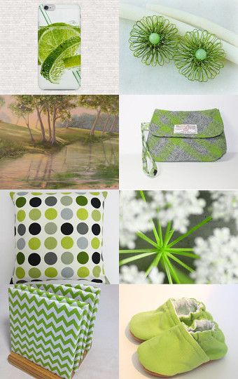 Green and Gray by Deb on Etsy--Pinned with TreasuryPin.com