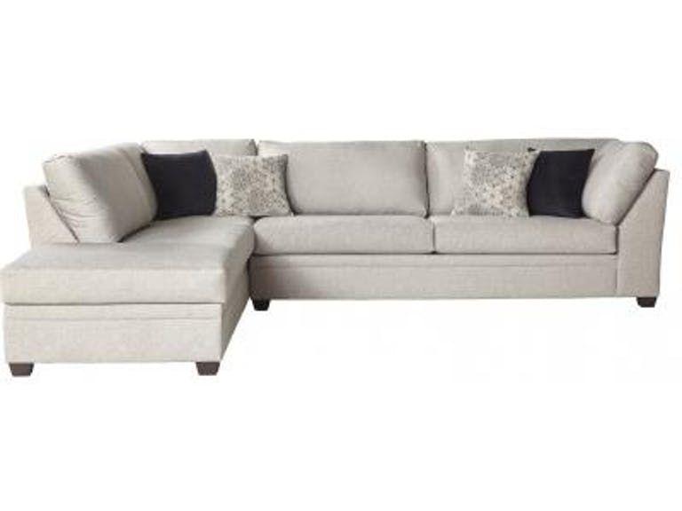 Hughes Furniture Living Room 14500 Sectional Carol House