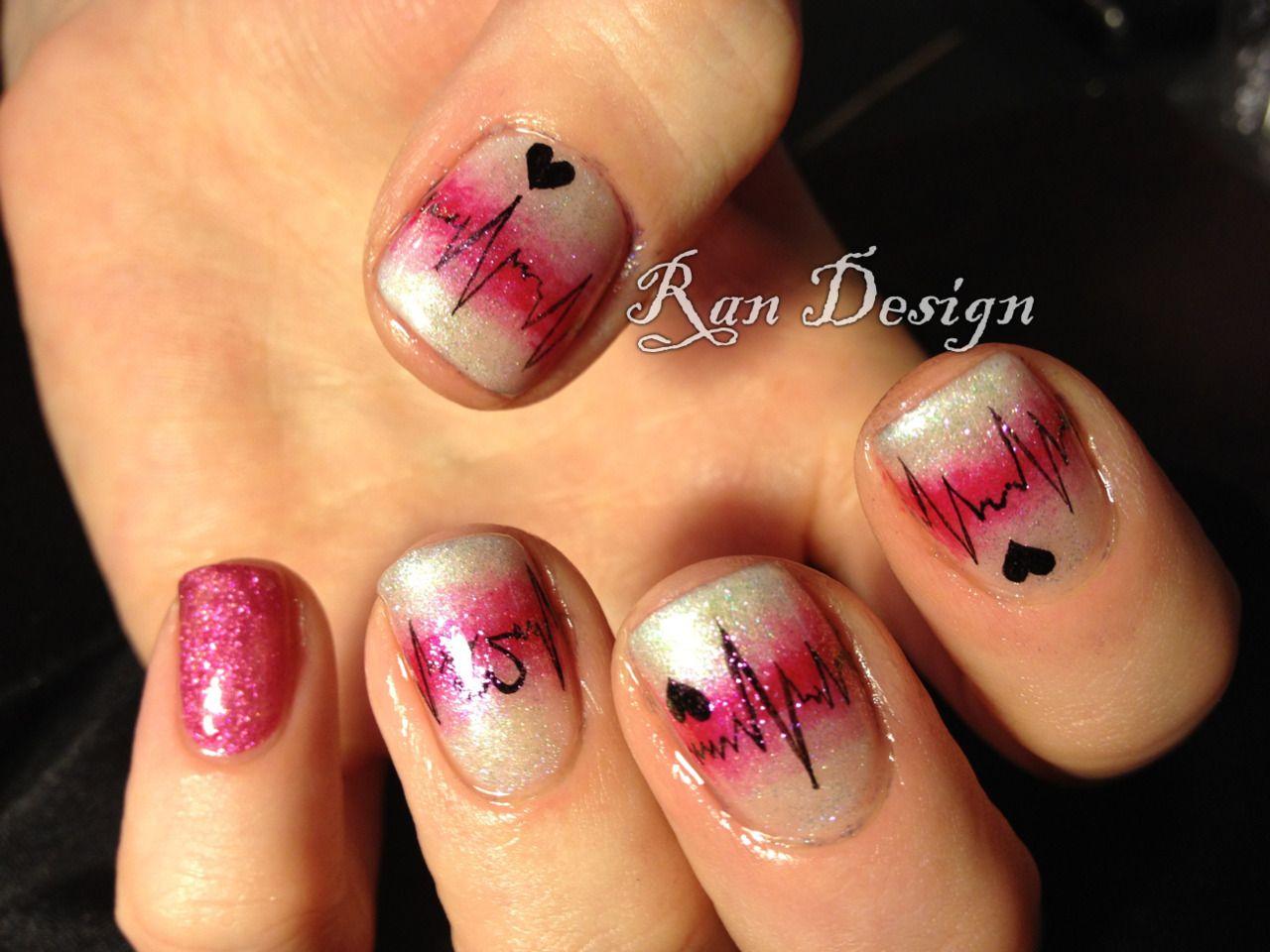 Nursing nails!! | nails | Pinterest | Glitter top, Nail nail and ...