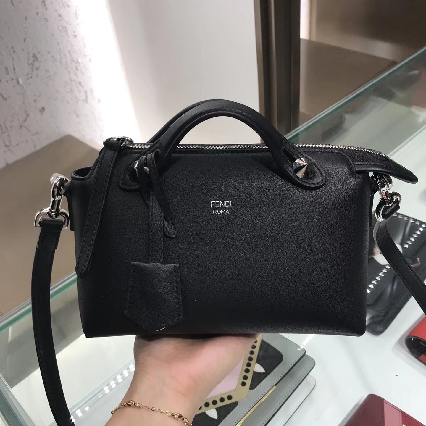 58c089655c Fendi by the way Boston bag mini size 22cm