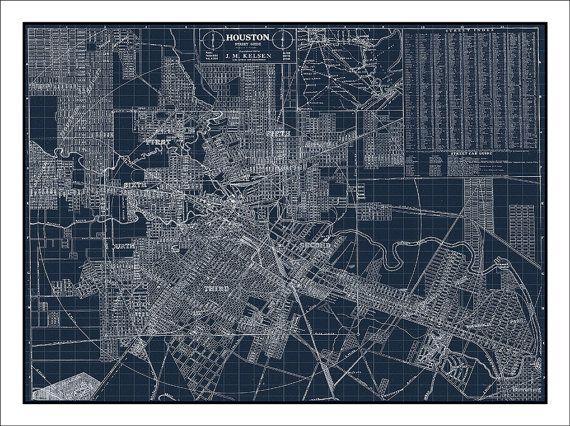 Houston Map Texas Map Of Houston Houston Tx By Watercolormaps2