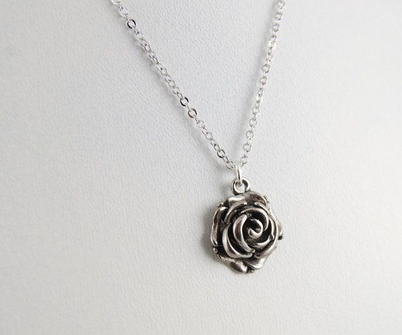 Rose Necklace by MelvinAvenue on Etsy, $18.50