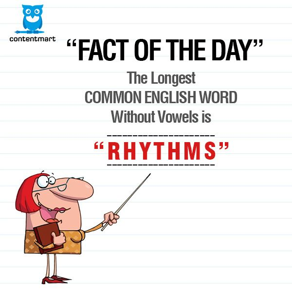 Fact Of The Day The Longest Common English Word Without Vowels Is