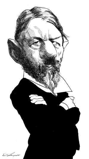Max Weber By David Levine The New York Review Of Books Caricature Weber Max