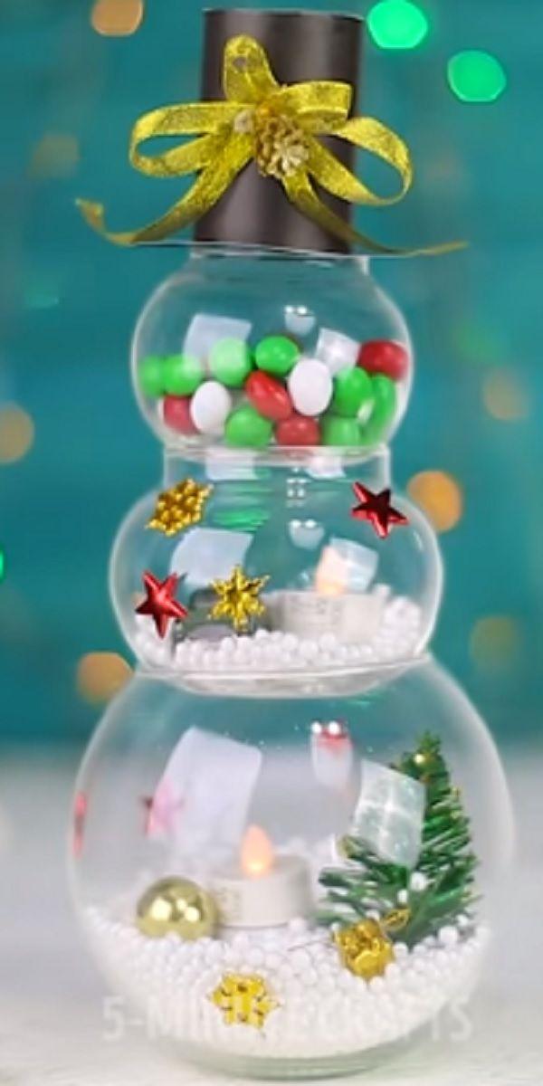 20 Cute Diy Christmas Gifts Everyone Can Make In 5 Minutes Video Fun Christmas Crafts Christmas Crafts Diy Diy Snowman Decorations