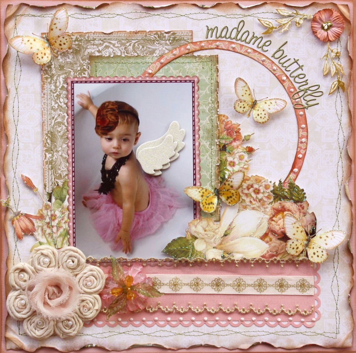 Madame Butterfly  **MY CREATIVE SCRAPBOOK** - Scrapbook.com