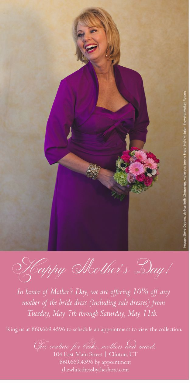 May 7-11: Mother's Day Sale, 10% off our collection, come in and join us!