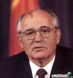 Mihaíl Gorbachov político ruso, Secretario General del Partido Comunista de la Unión Soviética (PCUS) de 1985 hasta 1989 y presidente de la Unión Soviética de 1989 a 1991. Recibió el Premio Nobel de la Paz en 1990
