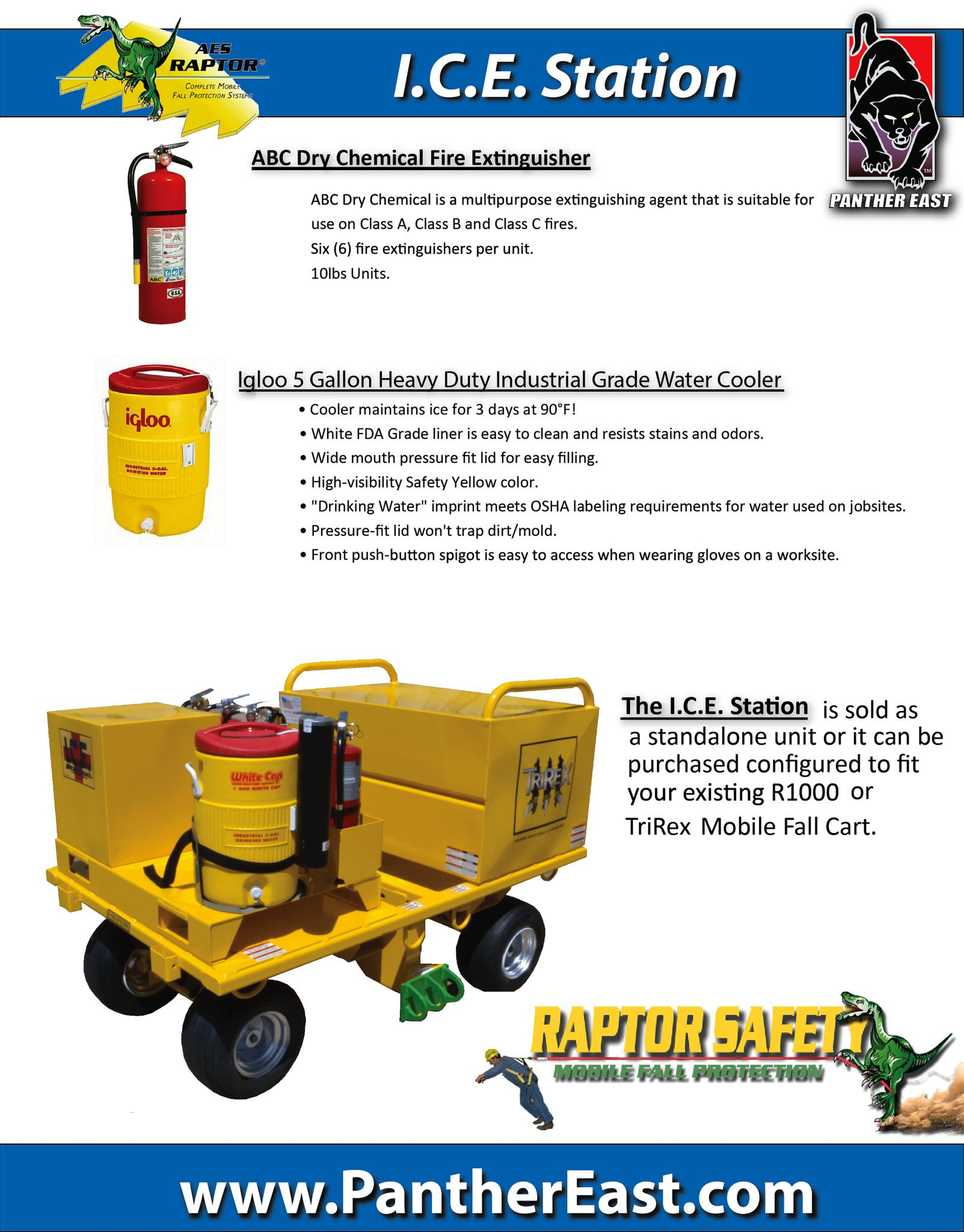 AES RAPTOR ICE STATION THE MOBILE SAFETY CART, EMERGENCY
