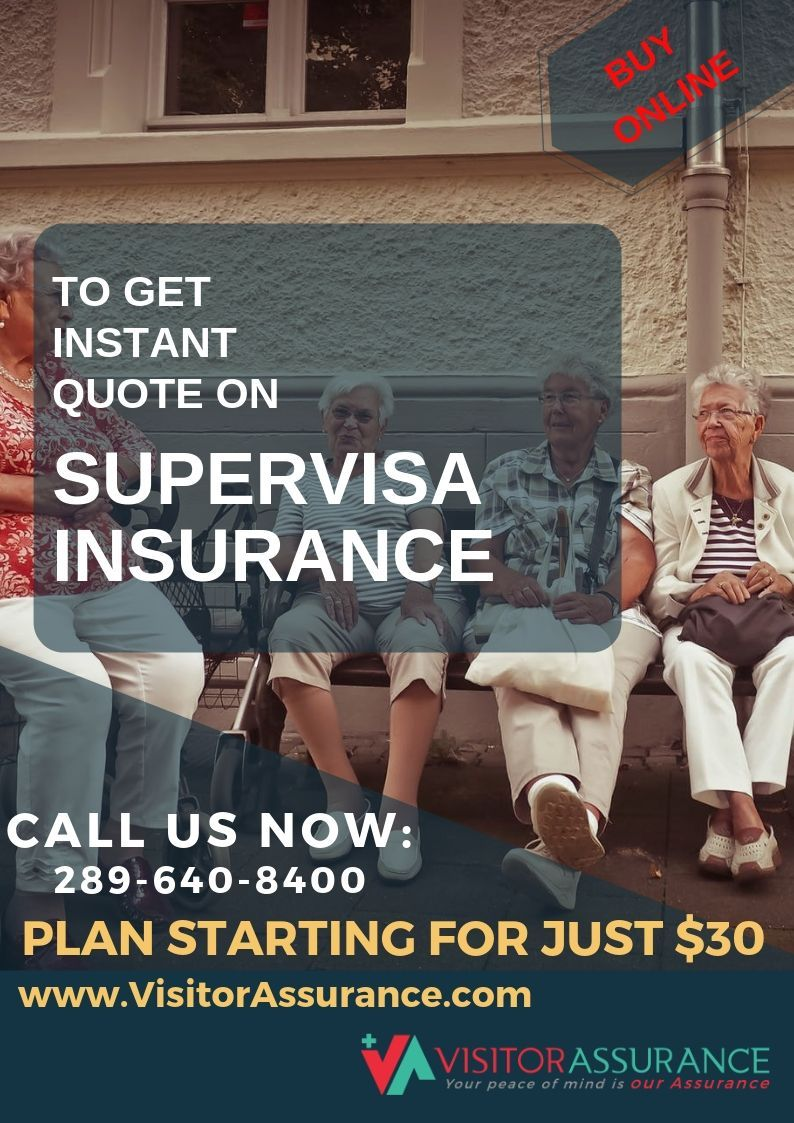 Know that super visa is a mandatory requirement set by