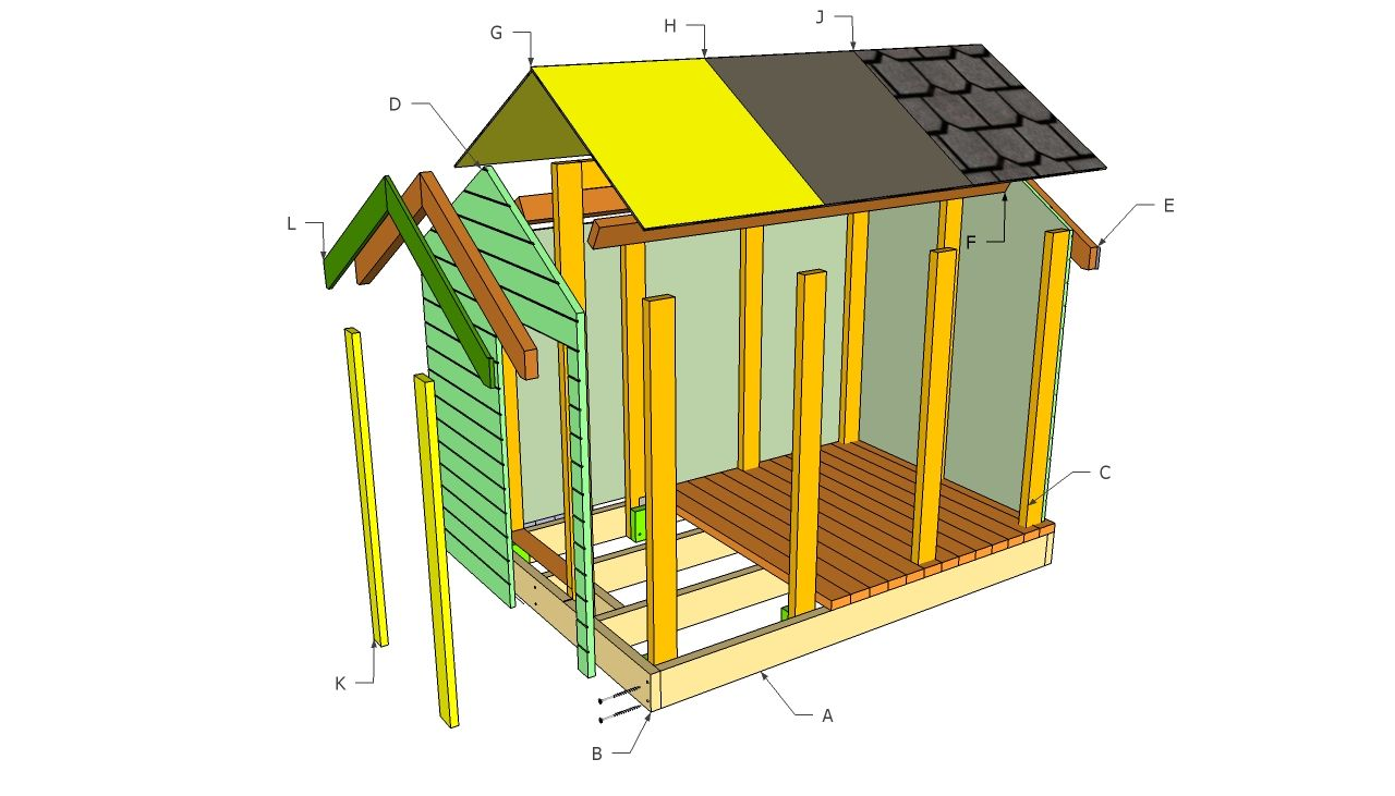 Free playhouse patterns playhouse plans free for Free playhouse blueprints