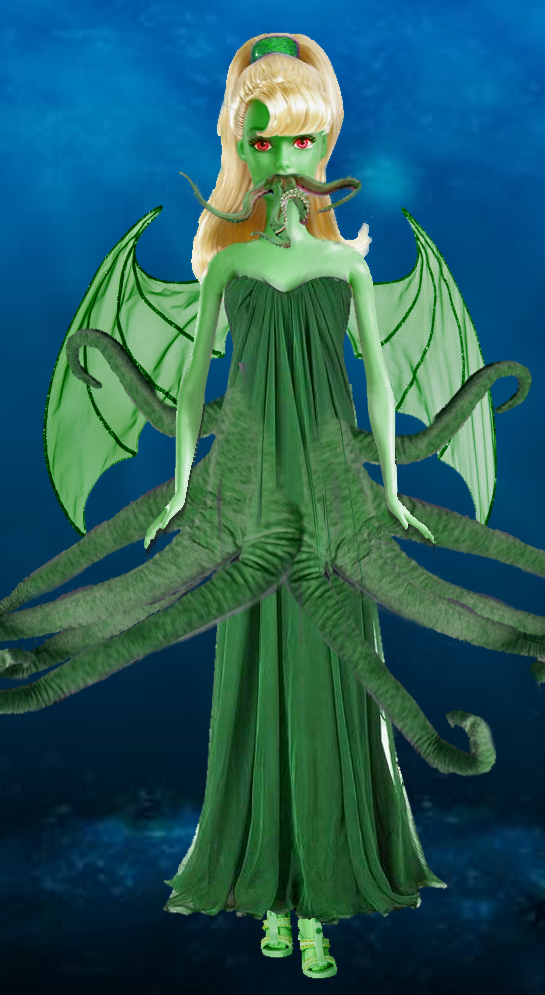 Cthulhu Barbie by Sabrina IntWife