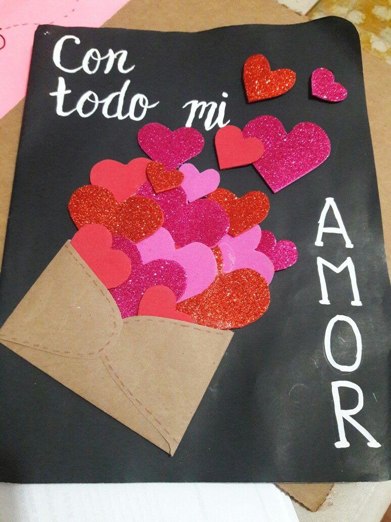 Tarjeta san valent n d a del amor y la amistad regalos - Manualidades para hacer tarjetas ...