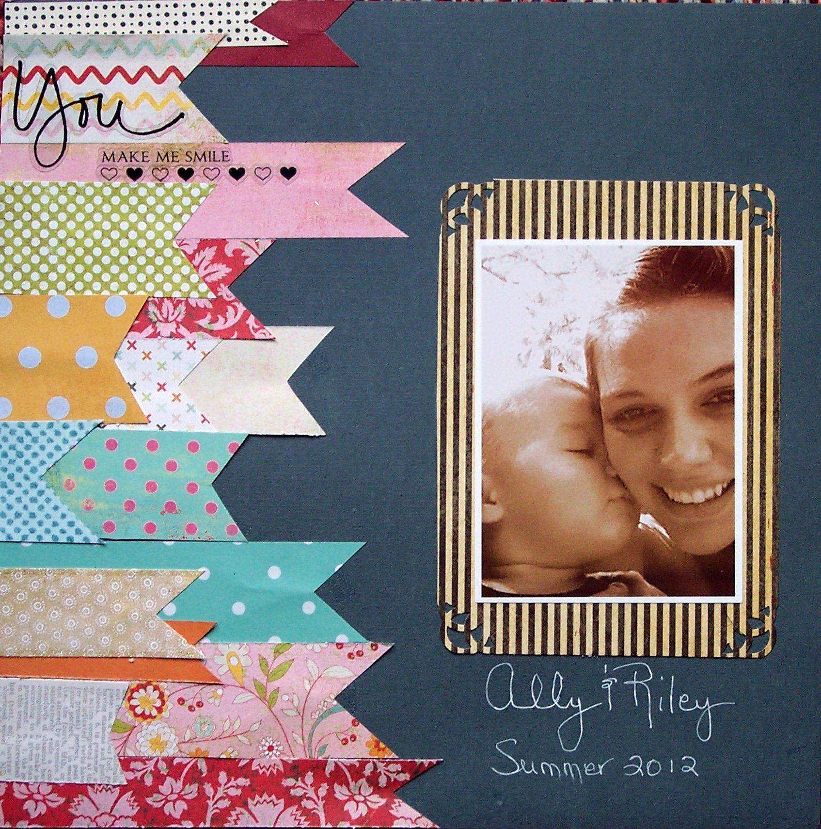 Scrapbook ideas with ribbon - Ribbons
