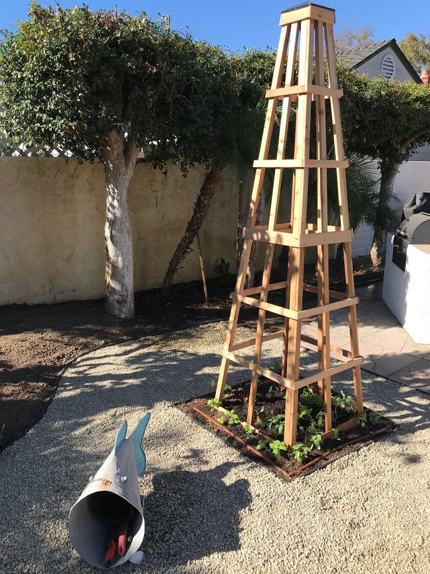 Wooden Obelisk CedarLast Obelisk 7.5' ON SALE
