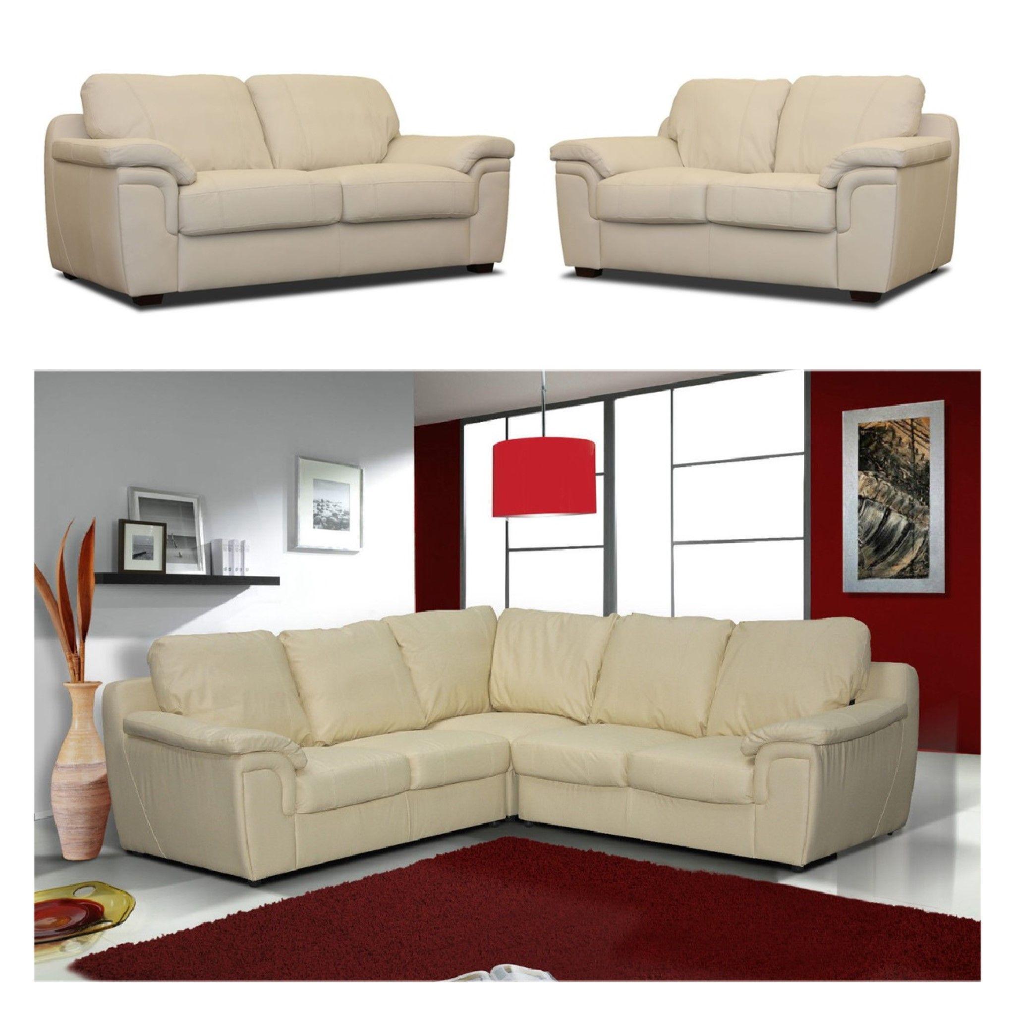 Amy 3 2 Seater Sofas 2c2 Corner Sofa Cream Leather Leather Corner Sofa Sofa Set Sofa Offers