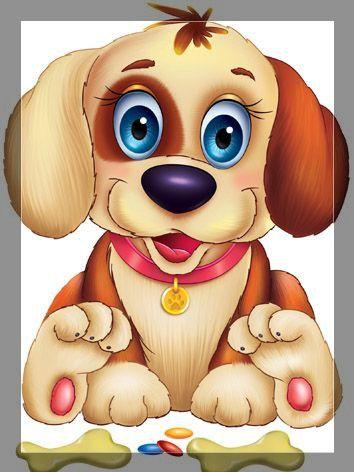 Cartoon Dog Eyes : cartoon, Puppy, Drawings,, Cartoon