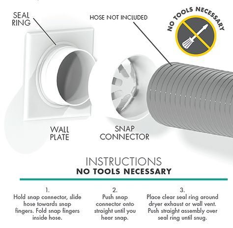 Snap To Vent The Best Dryer Connection For Installing Your Dryer Diy Dryer Installation Dryer Vent Dryer Hose Dryer Vent Dryer Vent Hose Diy Plumbing