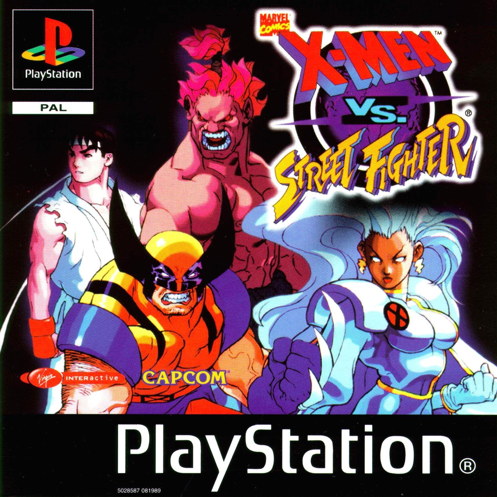 X Men Vs Street Fighter Psx Cover Download Sony Playstation Covers Street Fighter Man Vs Marvel Vs Capcom