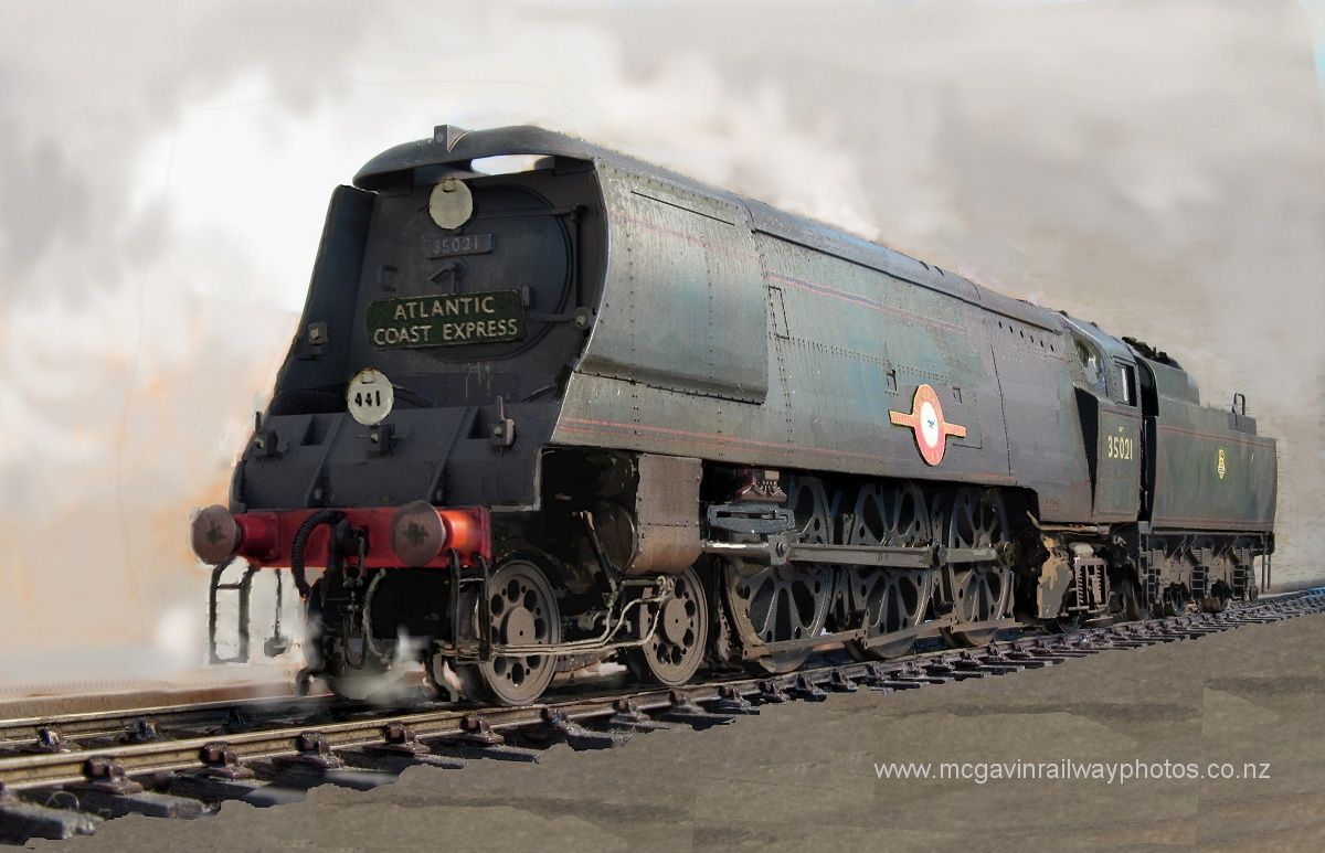 35021 new zealand line steam trains southern trains