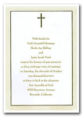 christian wedding invitation wording - google search | wedding, Wedding invitations