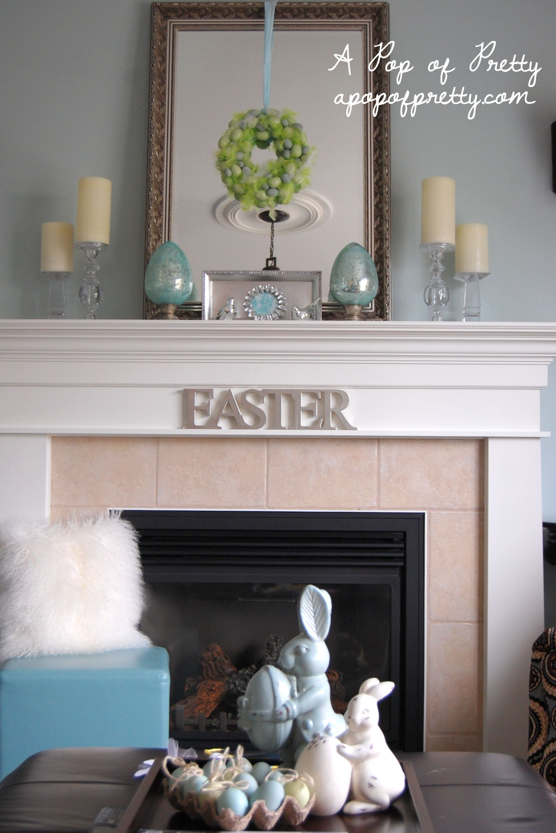 Easter Mantel ideas Easter Pinterest