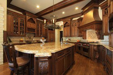Lovely Kitchen Ideas, Stunning Kitchen With Granite Countertop Wooden Flooring  Also Kitchen Cabinet Stove And Flush Mount: Top High End Kitchen Design  Ideas
