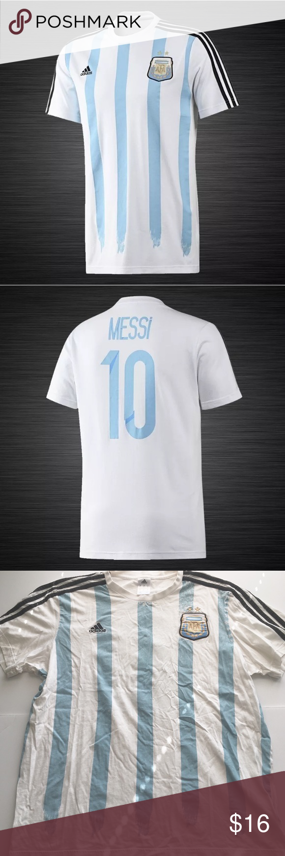 Adidas Messi AFA Football Soccer Tee Adidas tee shirt size extra large for  Messi. Item is in good used condition! Please check out my other listings  as I do ... 2b55f1b9e