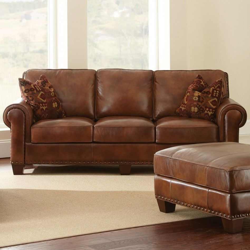 Decorating Ideas Ealing Living Room Decoration With Brown Leather Sofa Along Tribal