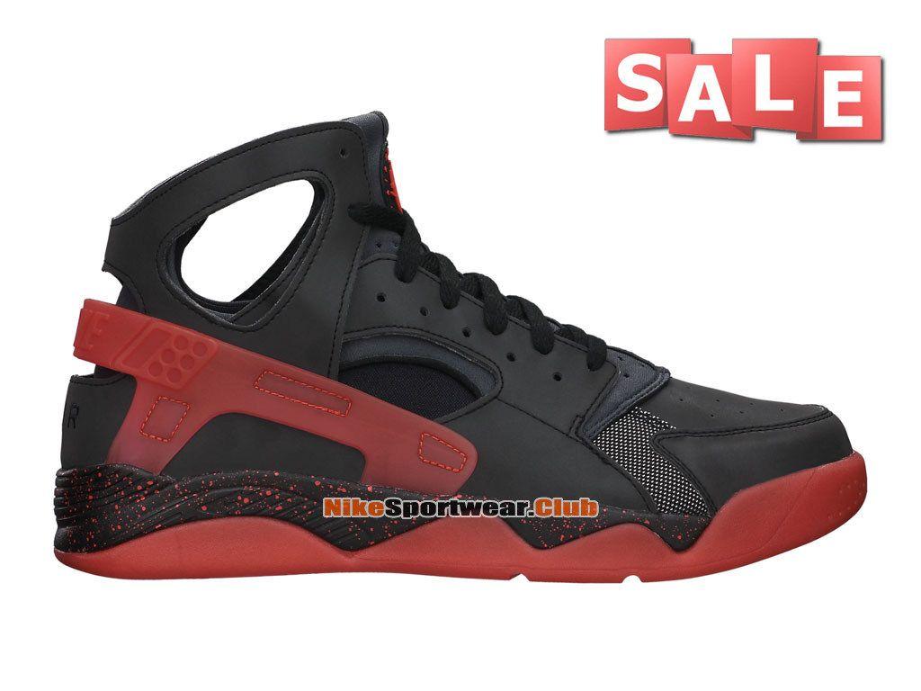 Cheap Nike Air Flight Huarache Premium - Black/Challenge Red #686203-001