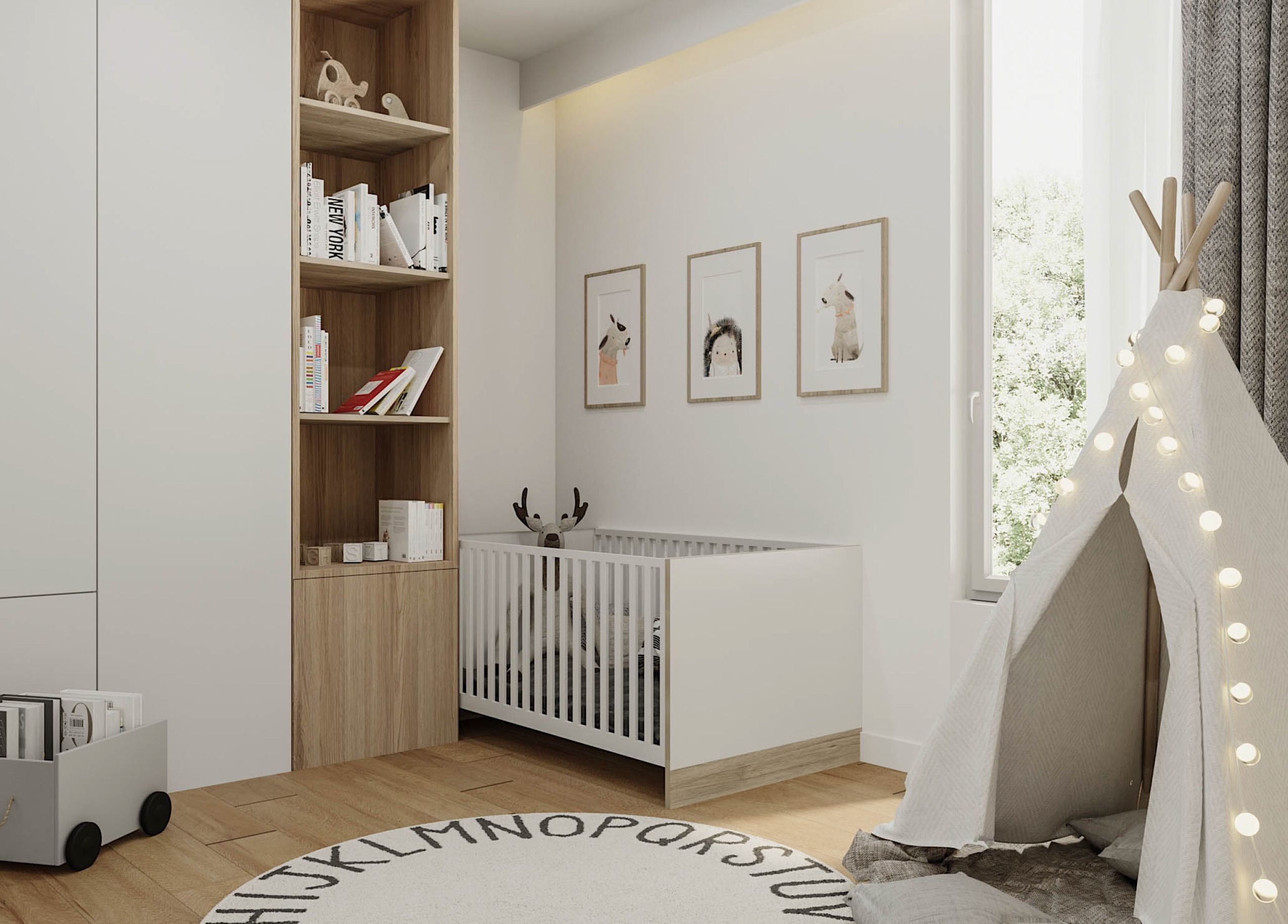 Happy Children's Day. Interior for a toddler designed by OSOM group