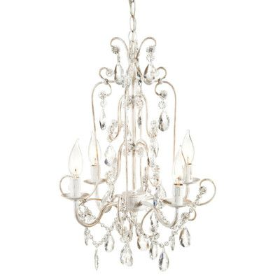 White crystal chandelier