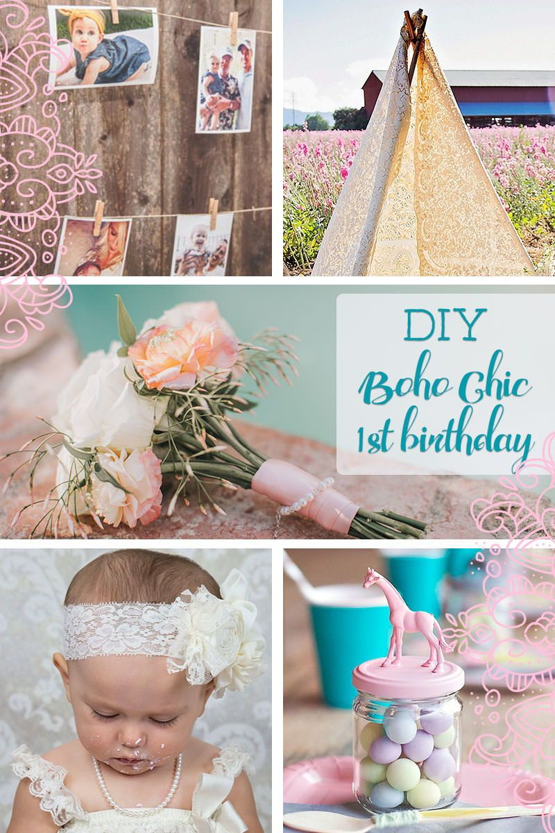 Throw a Boho Chic Themed 1st Birthday Cool DIY and Craft