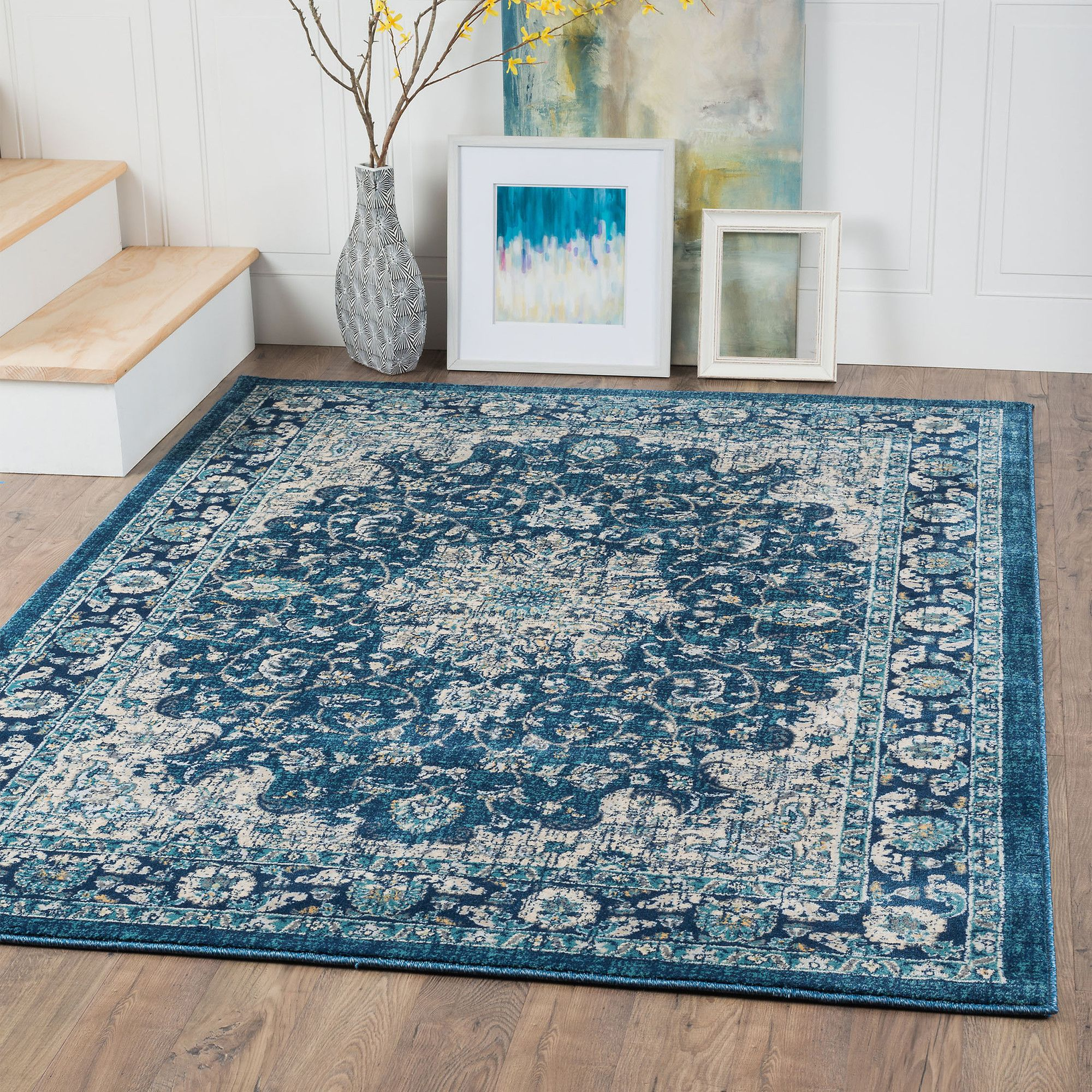 Brandt Brown Beige Ivory Area Rug Traditional Area Rugs Floral