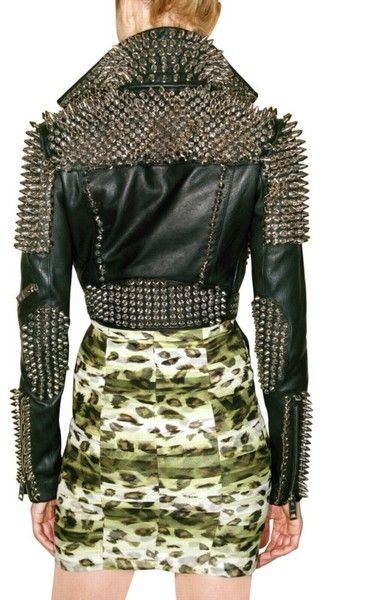 Burberry - Studded Leather Jacket