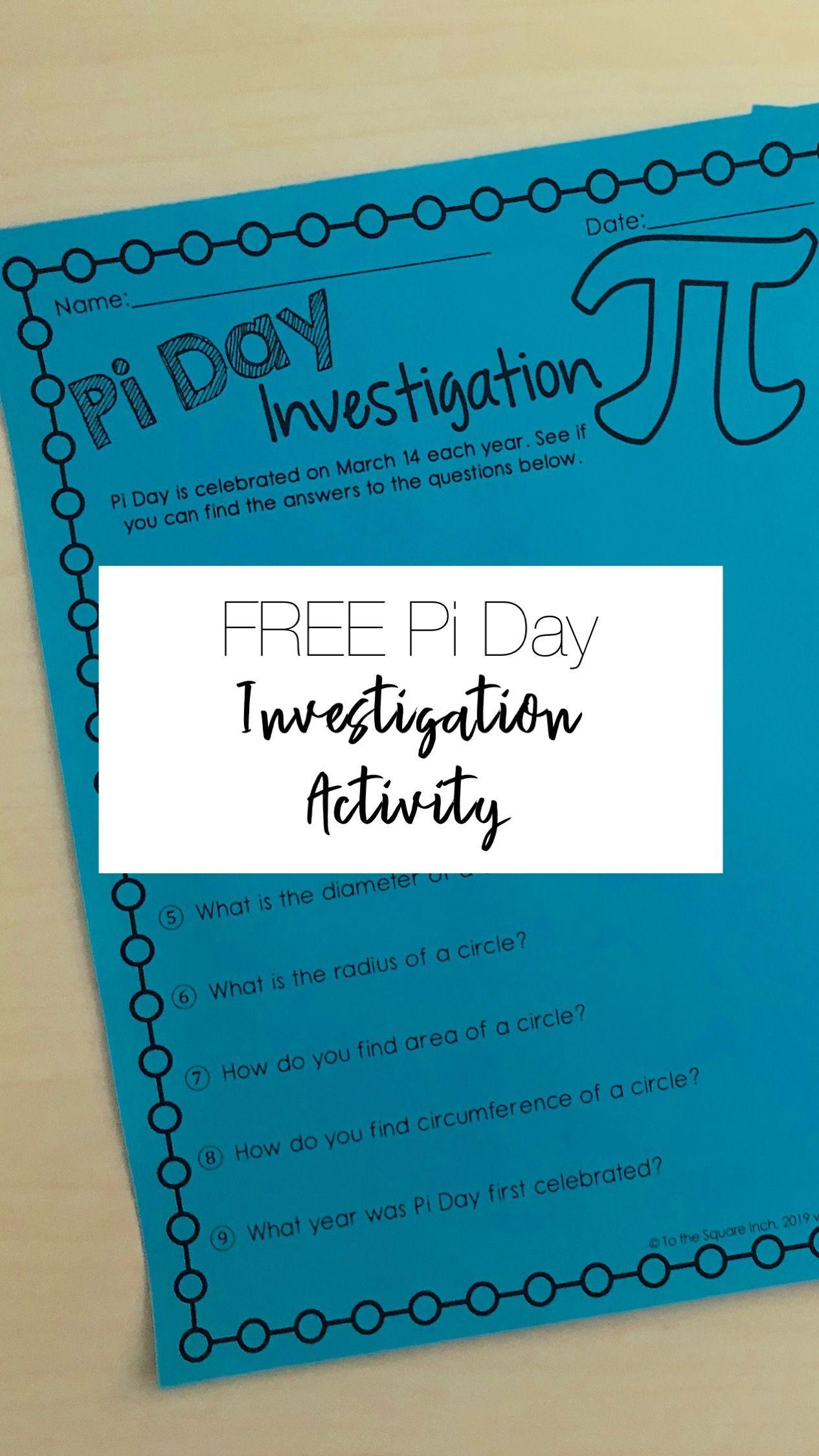 Free Pi Day Scavenger Hunt