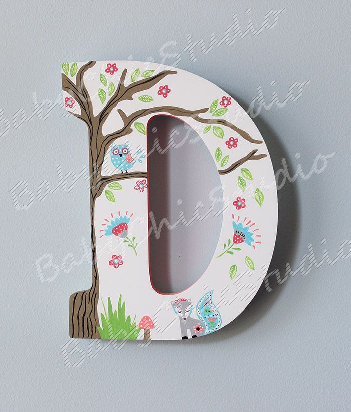 Personalized Wooden Letter To Coordinate Levtex Baby Fiona Nursery Theme By Eva12 On Etsy