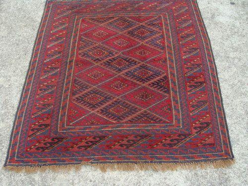 Tribal Afghan Rug 133 X 118 Cm Mushwani Handmade Persian Turkish Ebay