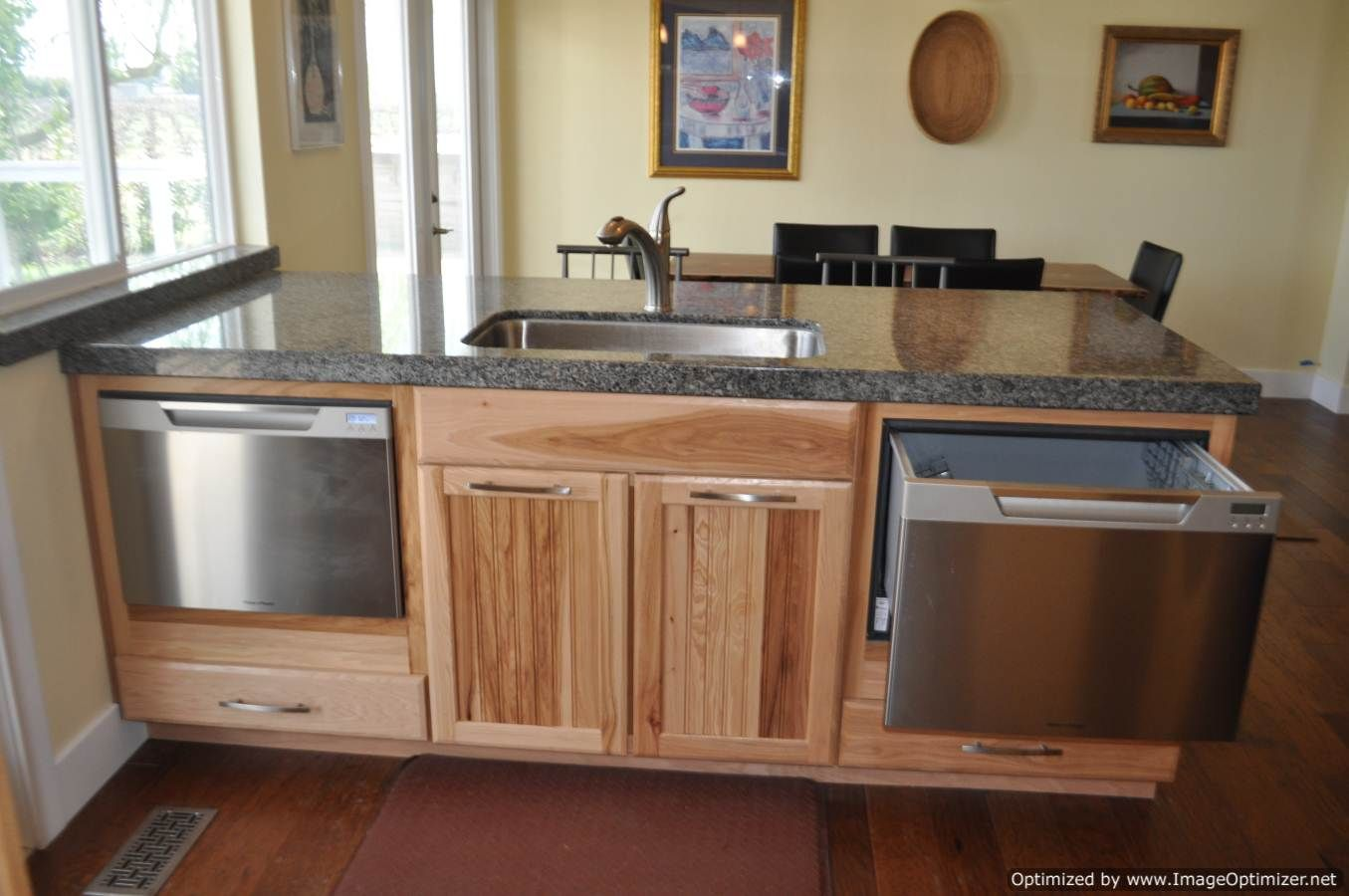 how to install a dishwasher under the